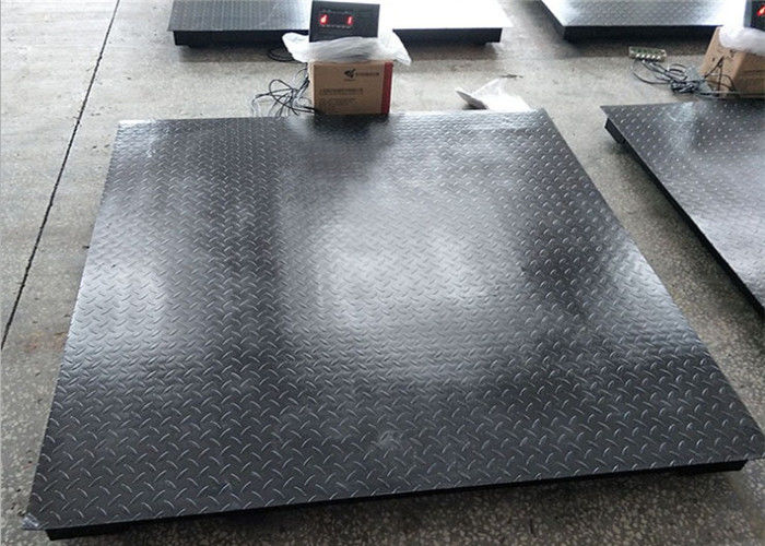1.5m*1.5m Industrial Floor Scale 5mm Decorative Pattern With Ramps