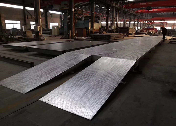 Customized Width Weighbridge Truck Scale , Lorry Weight Machine Zinc Coated Galvanized